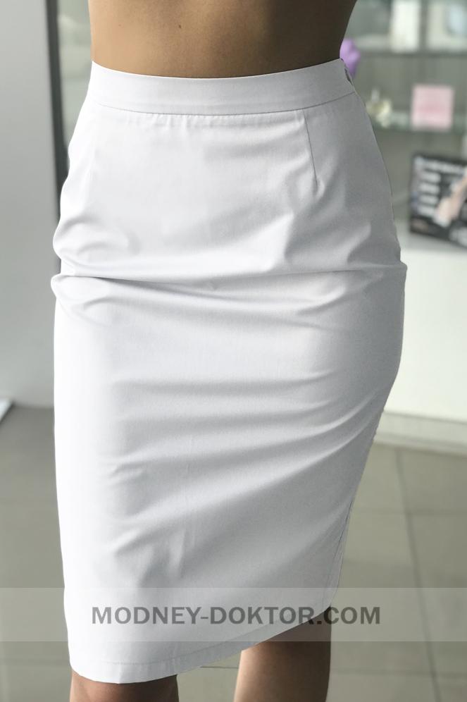 Медицинские юбки белые